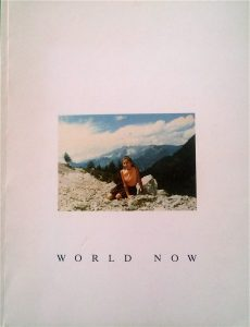World Now - greetings from isolation tank, Astrid Esslinger Tapisserie and Drawing, 1991 self- published